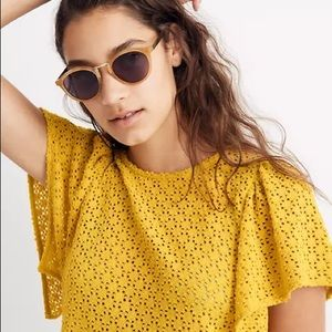 Madewell •Open Knit Top•